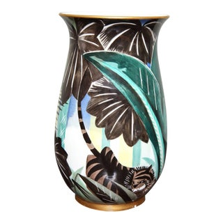 Art Deco Porcelain Vase by Robert Bonfils For Sale
