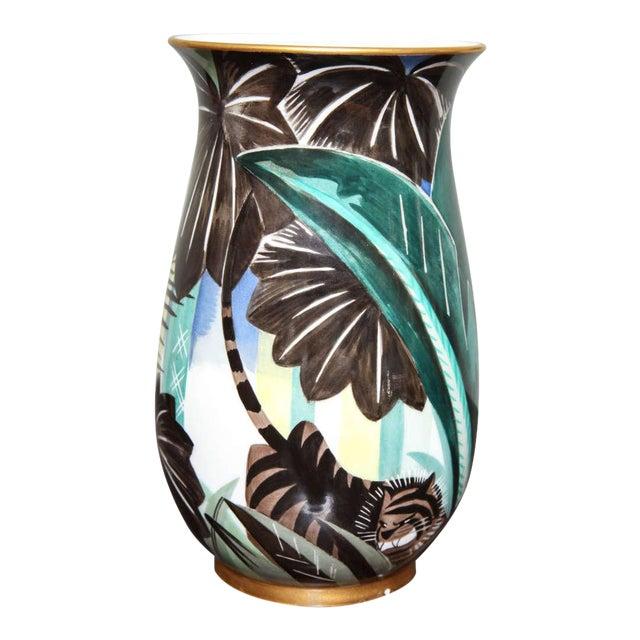 Art Deco Porcelain Vase by Robert Bonfils For Sale