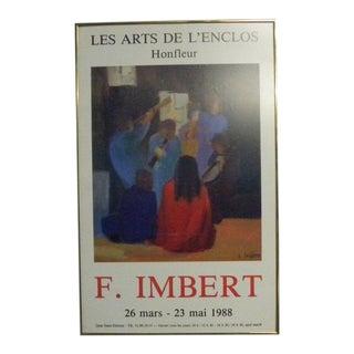 Vintage Framed F. Imbert Art Poster For Sale
