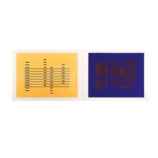 Minimalist Josef Albers Diptych Screen Print, Portfolio II No. 15