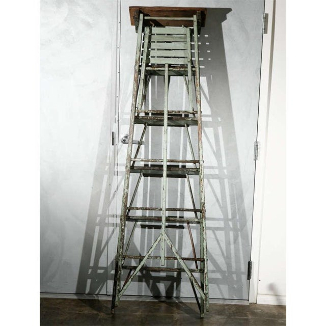 Vintage Painted Ladder as a Display Stand For Sale - Image 5 of 10