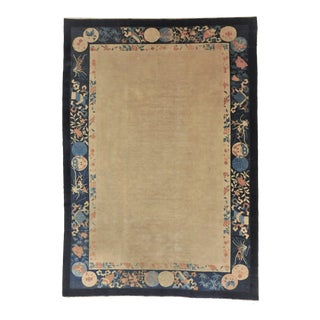 Antique Hand Made Chinese Rug For Sale