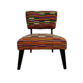 Vintage Stripe African Textile Chair For Sale