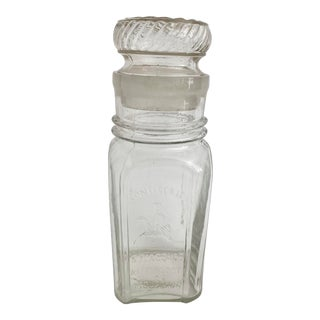Belgian Glass Confectionary Jar For Sale