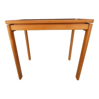 Danish Modern Teak and Smoked Glass End Table