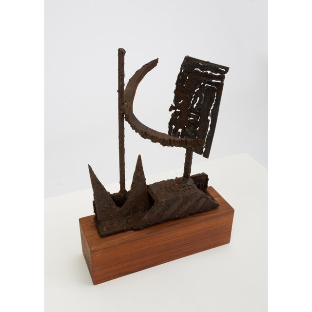 Gold Mounted Brutalist Figurine For Sale - Image 8 of 11
