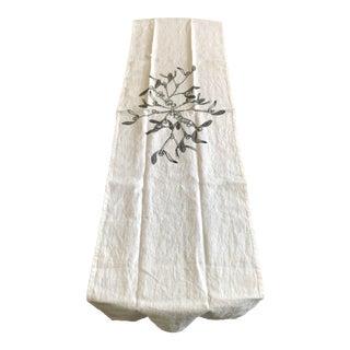 German Linen Table Runner - Mistletoe For Sale