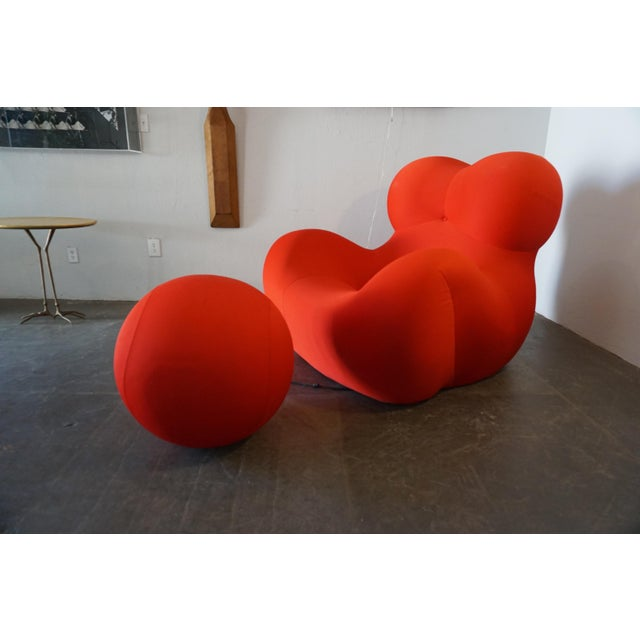 Textile Gaetano Pesce Up5 and Up6 Lounge Chair and Ottoman for B&B Italia For Sale - Image 7 of 8