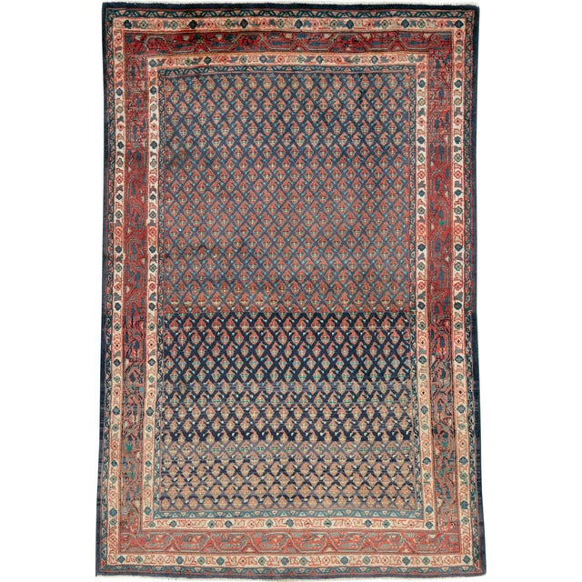 "Vintage Persian Malayer Rug – Size: 3'4"" X 5' 1"" For Sale - Image 10 of 10"