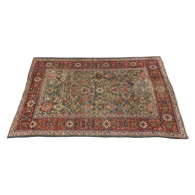 Antique Persian Sultanabad with Modern Design For Sale - Image 4 of 7
