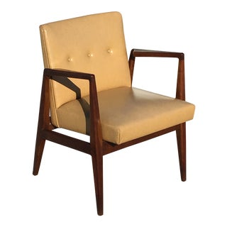 1950s Vintage Jens Risom Lounge Chair Mid Century For Sale