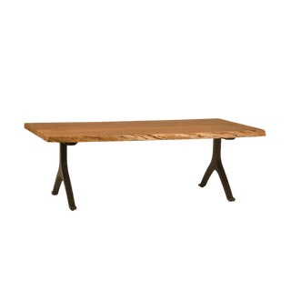 Live Edge Wood & Iron Coffee Table For Sale