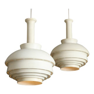 Two Alvar Aalto Model A335b Cieling Lamps