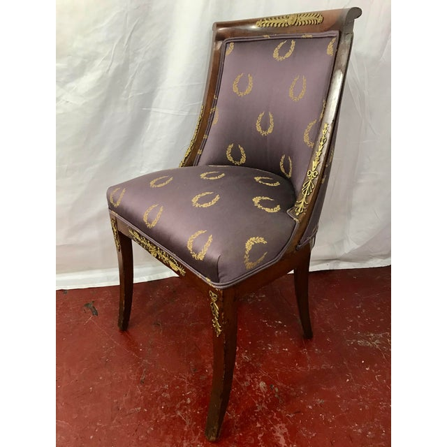 French French Empire Side Chairs, a Pair For Sale - Image 3 of 12