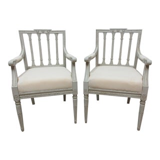 Swedish Gustavian Arm Chairs - a Pair For Sale