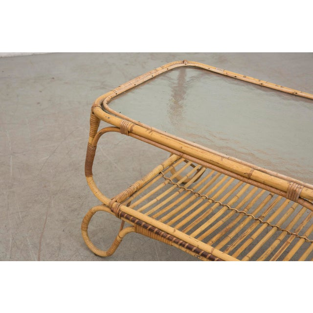 Bamboo Side Table With Magazine Rack - Image 5 of 7