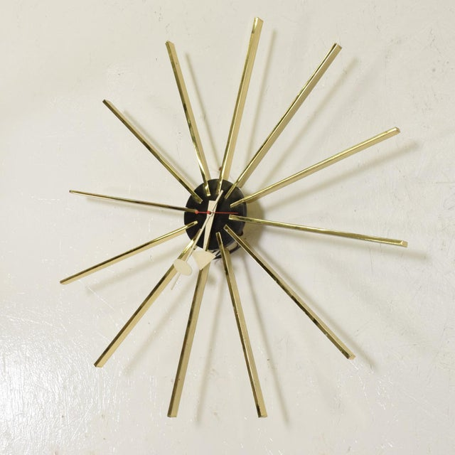 For your consideration, a mid century modern wall clock by George Nelson for Howard Miller. The USA circa the 1960s....