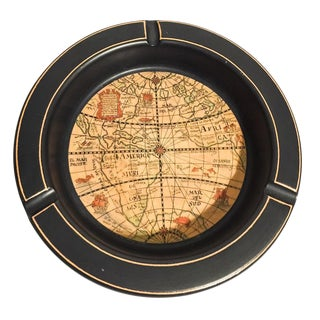 Mid-Century Italian Ceramic World Globe Ashtray For Sale