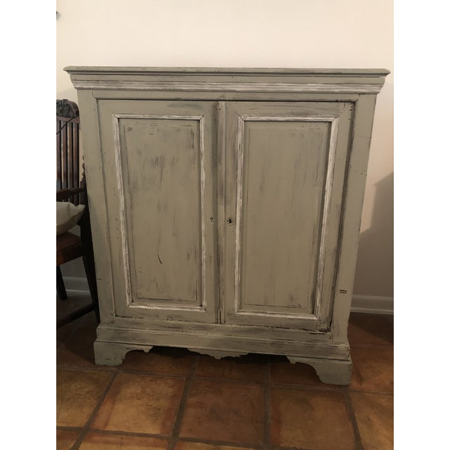 Light Gray Sideboard With Double Doors For Sale - Image 11 of 11