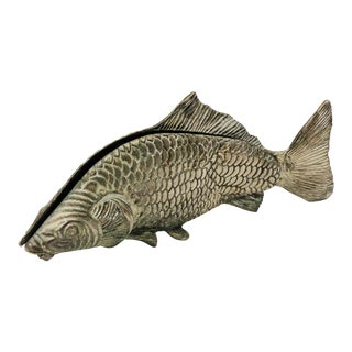 Vintage Italian Silver Fish For Sale