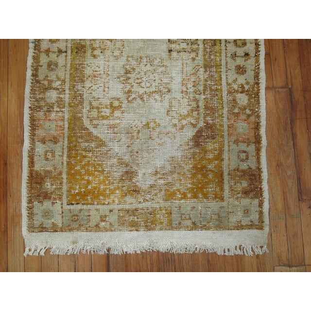 Islamic Distressed Turkish Anatolian Rug, 2'11'' x 4'3'' For Sale - Image 3 of 5