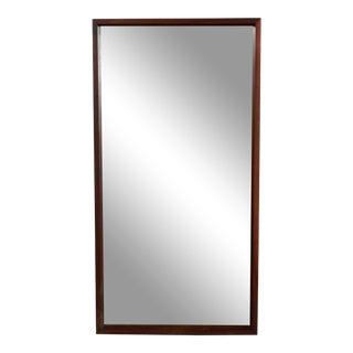 Milo Baughman for Directional Mid Century Modern Walnut Wall Mirror For Sale