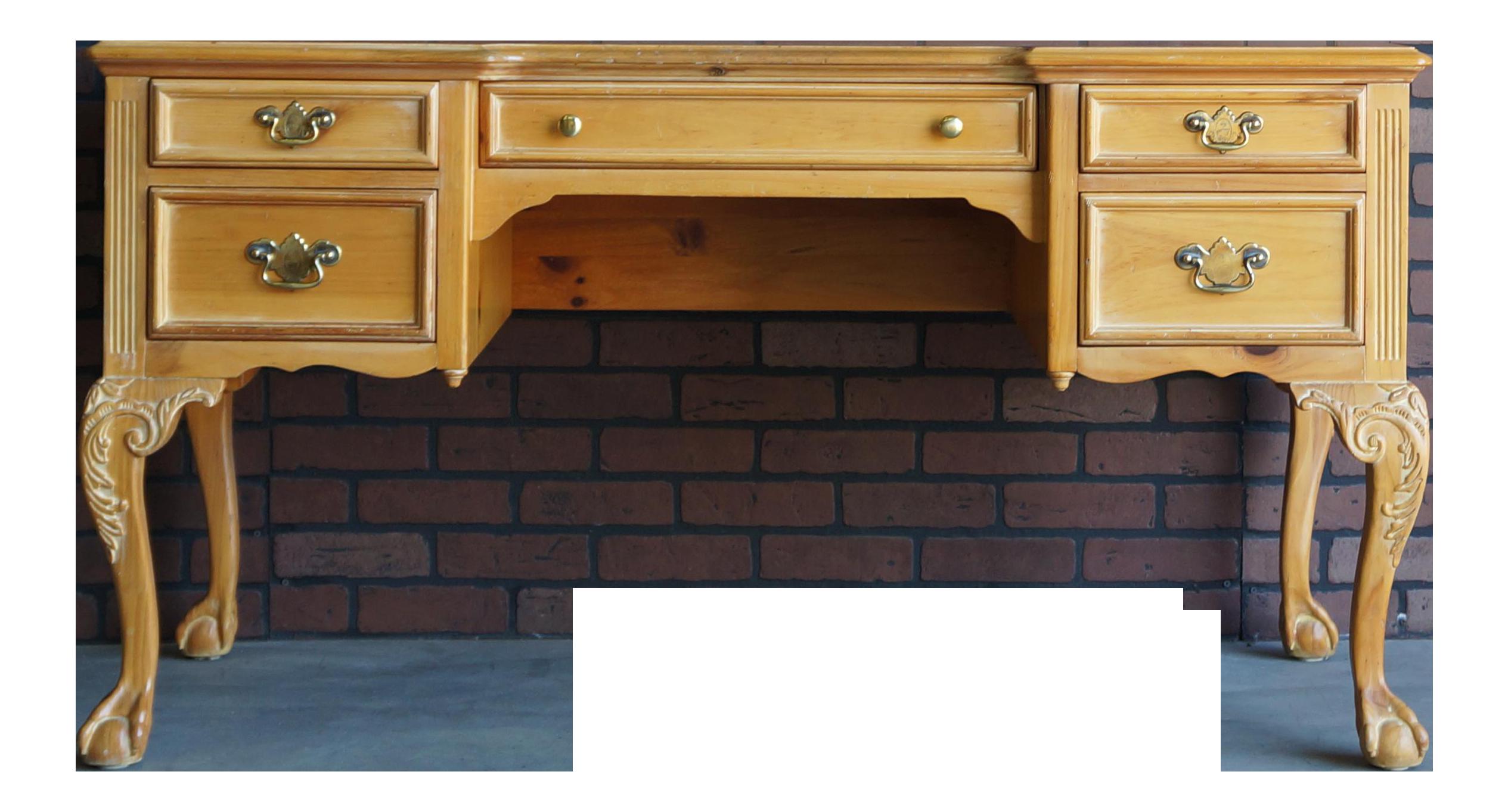 Vintage Pine Writing Desk