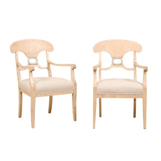 Pair of Swedish Biedermeier or Karl Johan Armchairs From the Late 1800s For Sale
