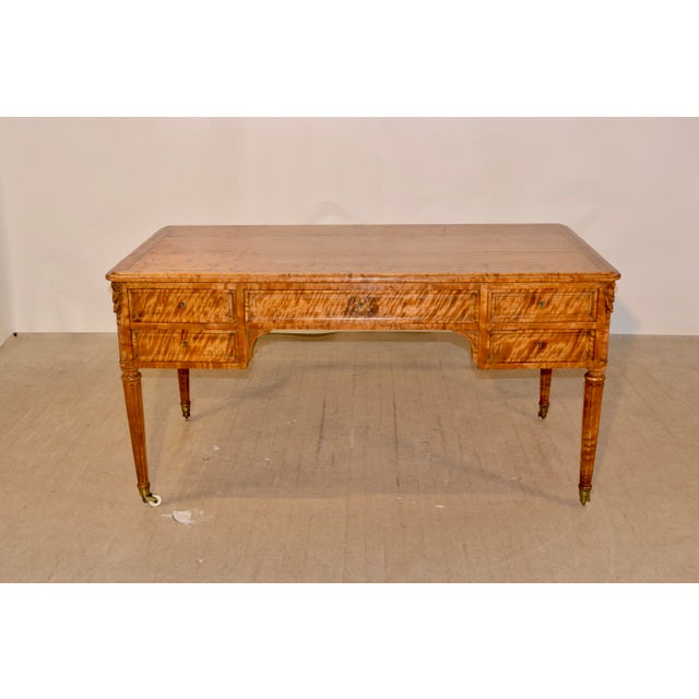 19th Century Satin Birch Desk For Sale - Image 12 of 12