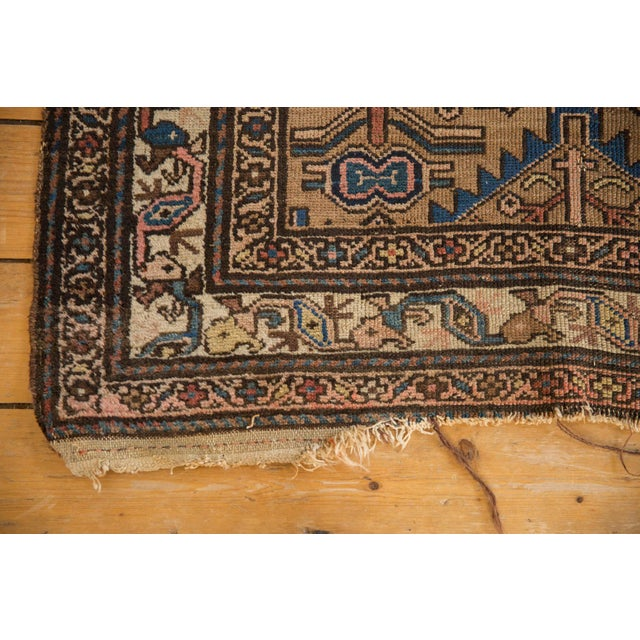 """Shabby Chic Antique Hamadan Rug - 3'8"""" X 6'3"""" For Sale - Image 3 of 9"""