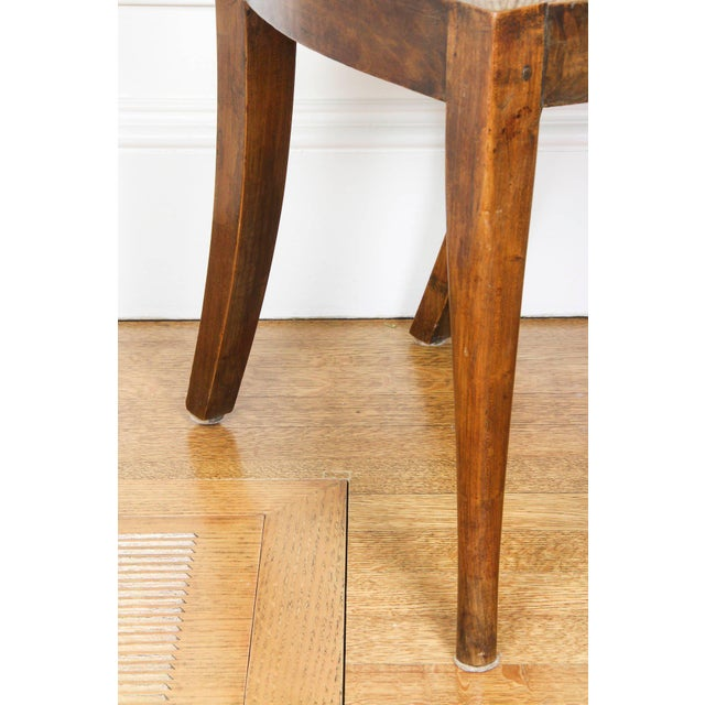 Set of Six Italian Neoclassic Walnut and Ebonized Dining Chairs For Sale - Image 9 of 10