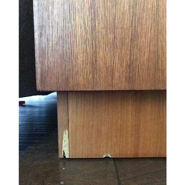 Bernhard Pedersen Mid-Century Danish Teak Credenza Dresser Plinth Tambour For Sale - Image 9 of 10