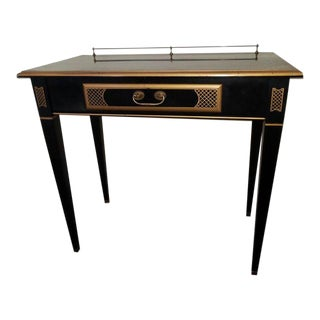 French Black Lacquer Writing Desk For Sale