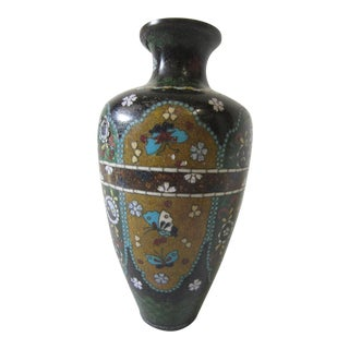 Antique Chinese Cloisonne Vase For Sale