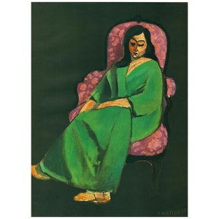 1947 Henri Matisse, Original Femme Au Fauteuil Period Lithograph For Sale