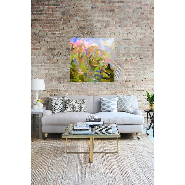 "Abstract Large Abstract Painting by Trixie Pitts ""Mountain Falls"""" For Sale - Image 3 of 4"