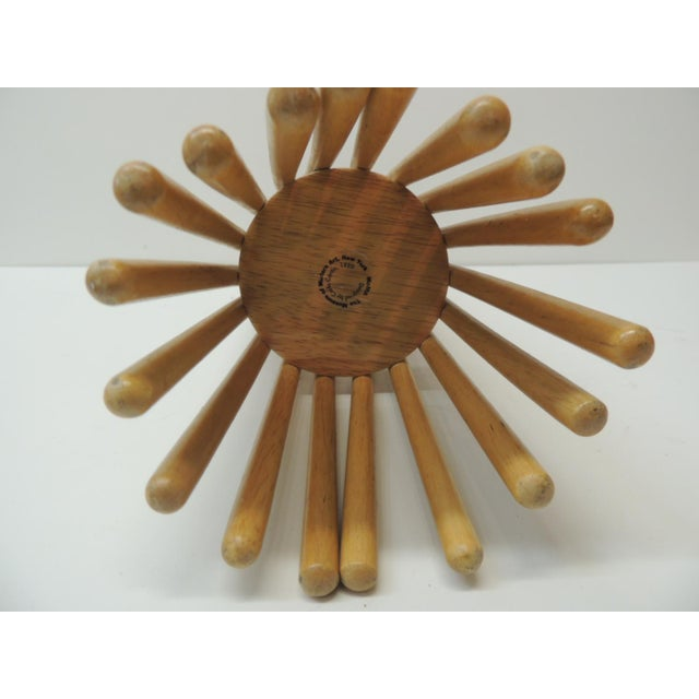 Mid-Century Modern Folding Wood Fruit Basket From MoMa For Sale - Image 4 of 6