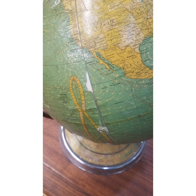 Chrome Cram's 1936 Deluxe Globe With Suns Rays For Sale - Image 7 of 10