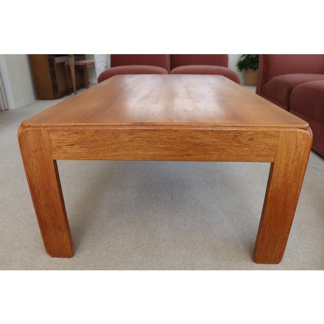 Niels Eilersen Danish Modern Niels Eilersen Solid Teak Coffee Table For Sale - Image 4 of 6