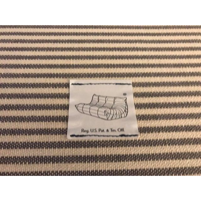 Ligne Roset Navy Alcantara Togo Sofa For Sale - Image 10 of 12