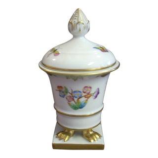 1950s Vintage Herend Porcelain Vase For Sale