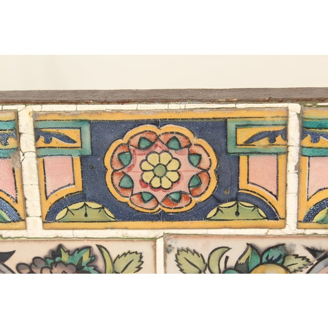 Spanish Tile Top Wrought Iron Patio Table For Sale - Image 10 of 13