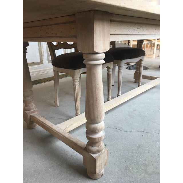 Country French Antique Scrubbed Dining Table For Sale - Image 3 of 8