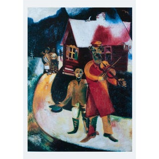 """1993 Marc Chagall """"The Fiddler"""", First Edition Poster For Sale"""