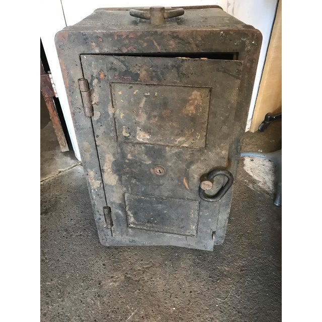 Solid Iron Antique Train Lock Box - Image 2 of 10