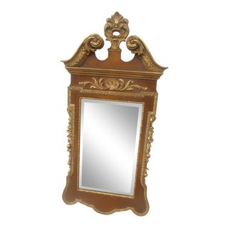 Friedman Brothers Mahogany & Gold Georgian Mirror For Sale