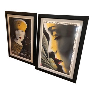 Philipe Sommer Advertising Prints - a Pair For Sale