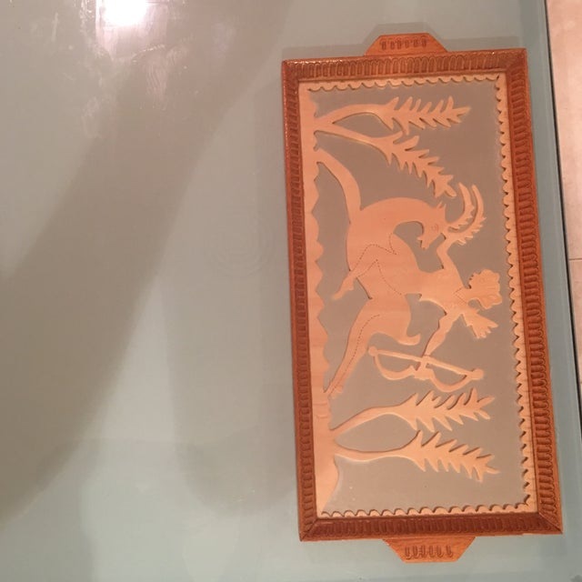 Vintage Art Deco Hand Carved Tray - Image 3 of 7