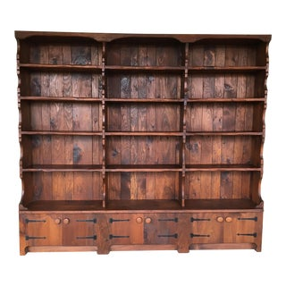 Hunt Country Furniture Solid Pine 15 Shelf Bookcase For Sale