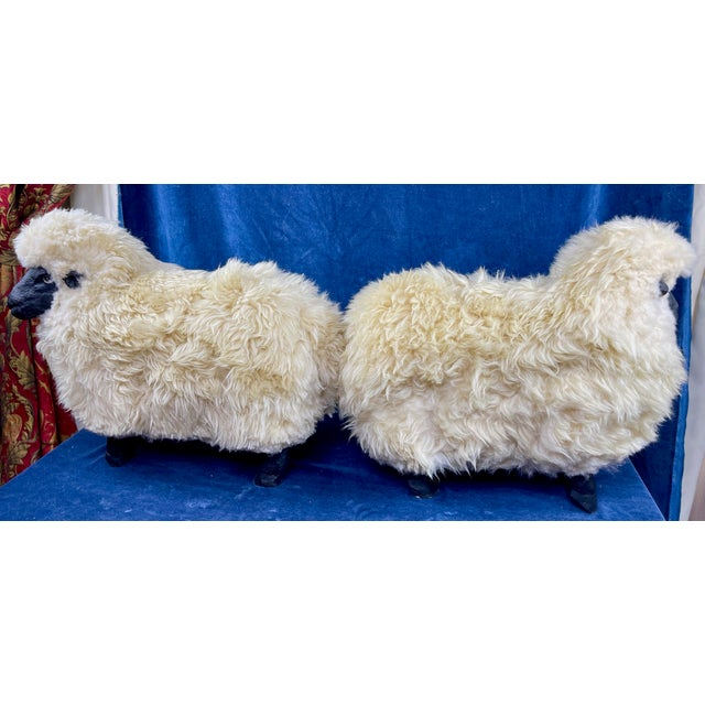 Late 20th Century Lalanne Style Sheep Footstools - a Pair For Sale In Palm Springs - Image 6 of 11